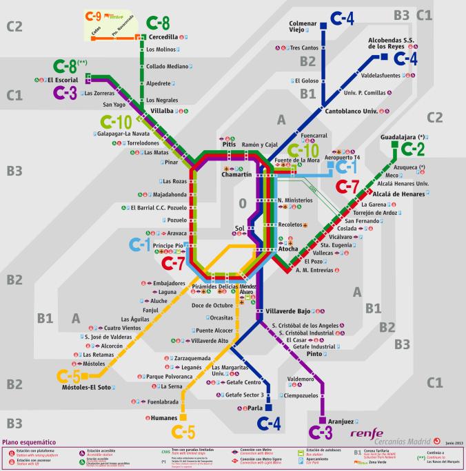 Trem Cercanias de Madrid, como chegar ao centro de Madrid