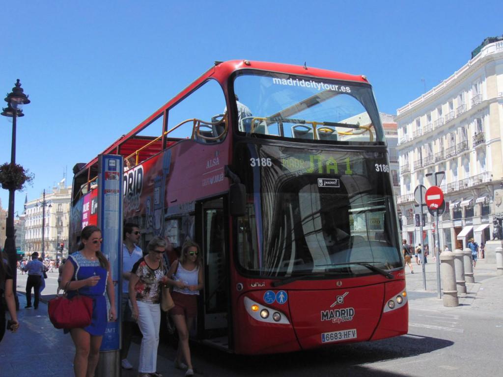 Pegando o City Bus em Sol