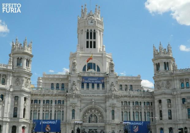 Prefeitura de Madrid vestida para final da Liga dos Campeões 2014