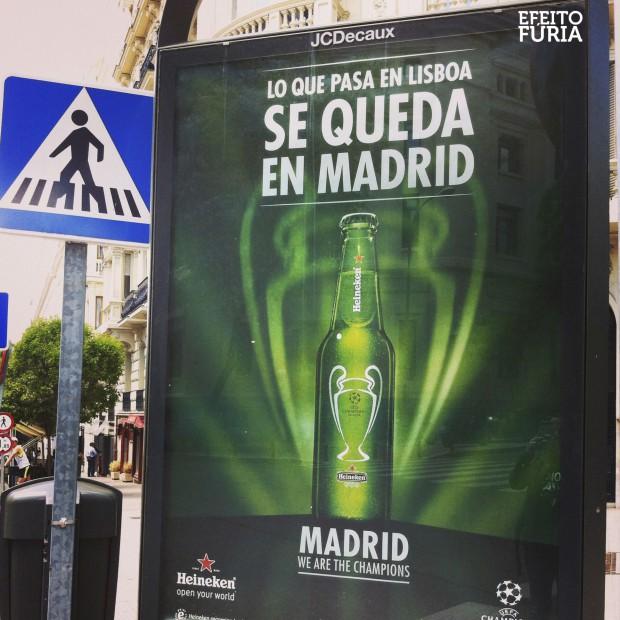 Publicidade final Liga dos Campeões 2014