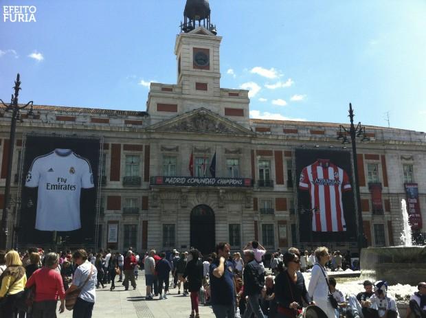 Puerta del Sol vestida para final da Liga dos Campeões 2014