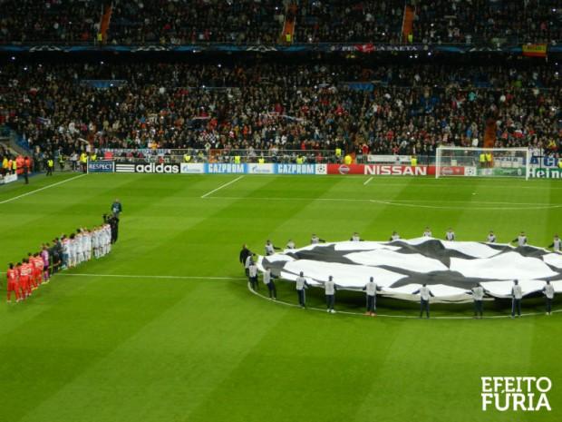 Jogo da Liga dos Campeões em Madrid