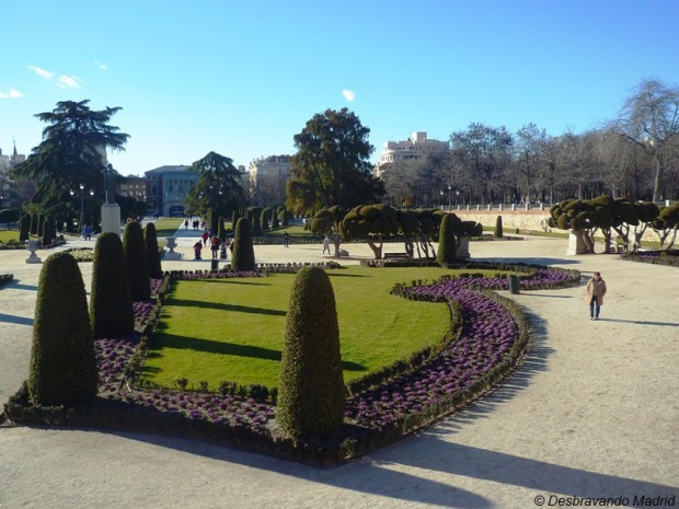 parterre, parque do retiro