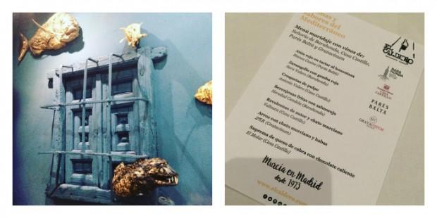 gastronomia de Múrcia - restaurante el caldero - aromas y sabores del mediterraneo