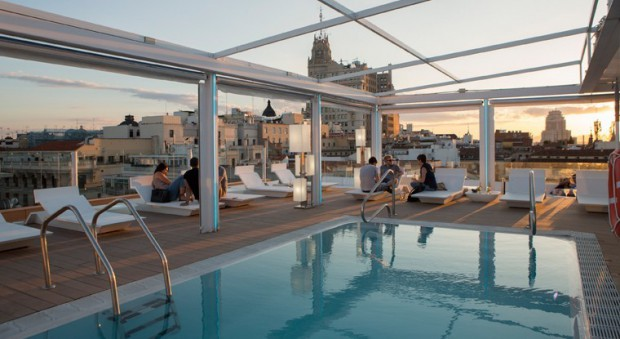 la terraza de arriba, room mate hotel oscar