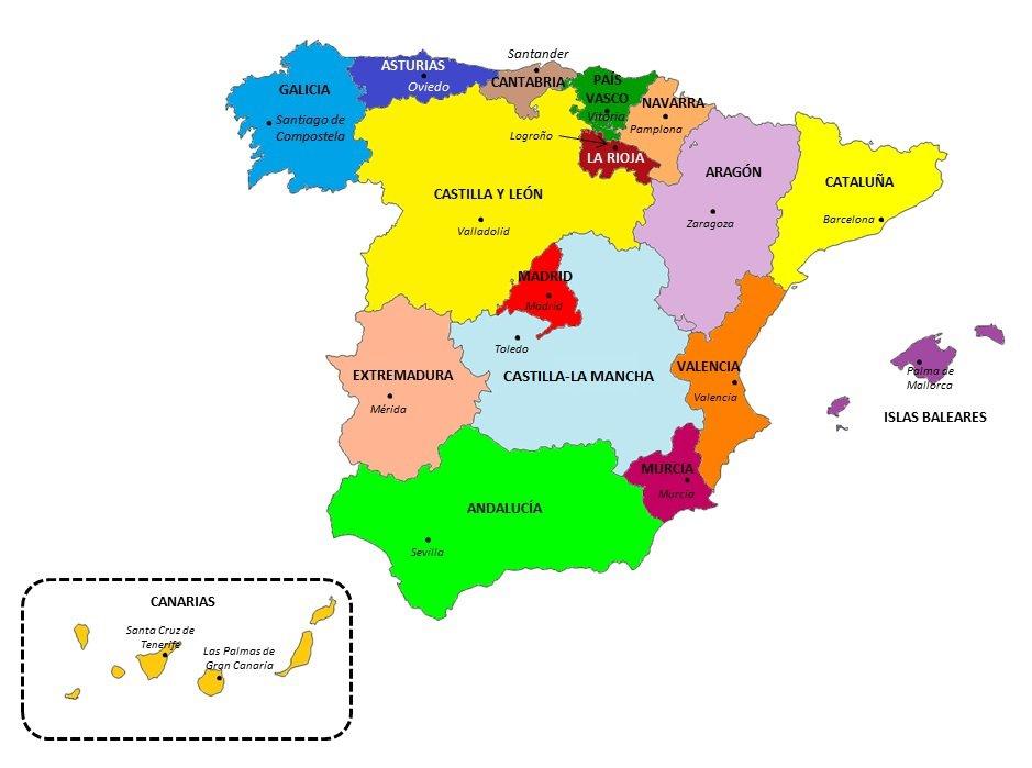 Campeonato Espanhol Por Regioes Na Espanha Onde Estao Localizados