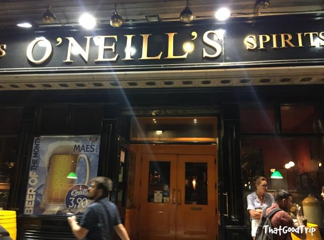 Oneills Bar Madrid