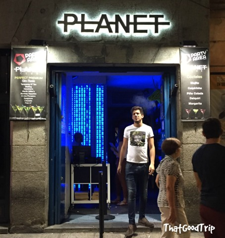 Planet Club bar Madrid