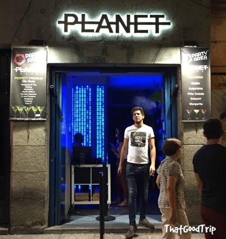 Planet Club bar Madrid