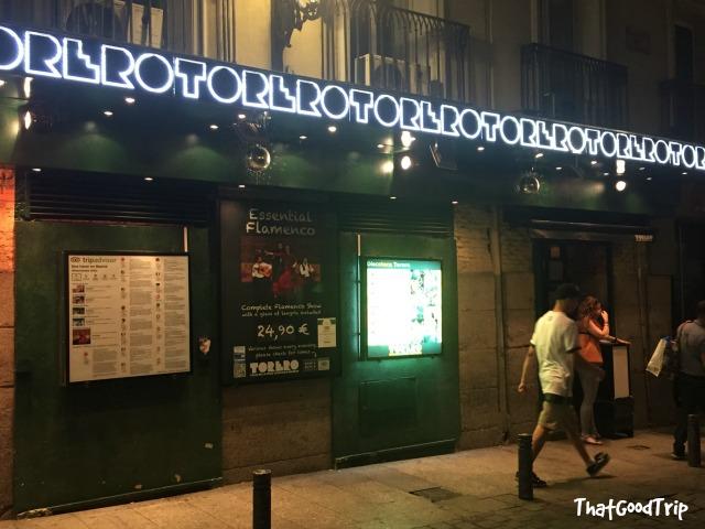 Torero bar Madrid