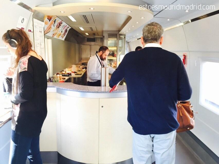 Cafeteria do trem AVE