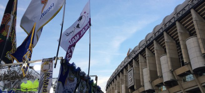Estádio Santiago Bernabéu antes de jogo do Real Madrid