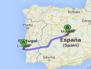 Como ir de Madrid a Lisboa