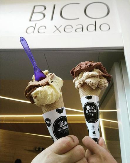 Sorveterias em Madrid - bico de xeado