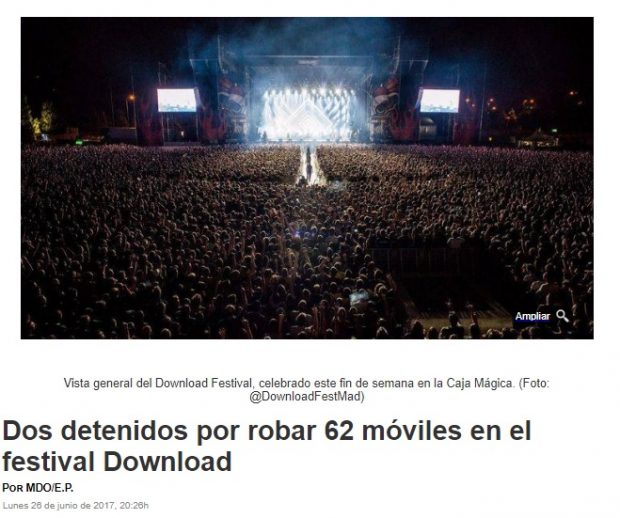 Furtaram o meu celular - noticia download festival