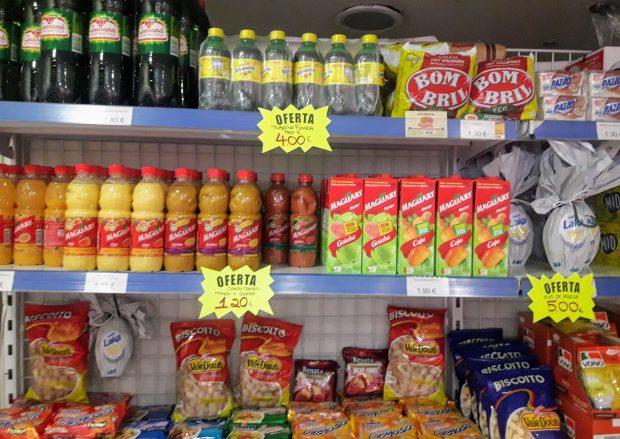 produtos brasileiros em Madrid sucos