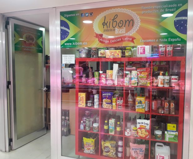 produtos brasileiros em Madrid kibom