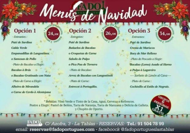 Menus de Navidad Fado Portugués