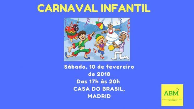 carnaval infantil em Madrid