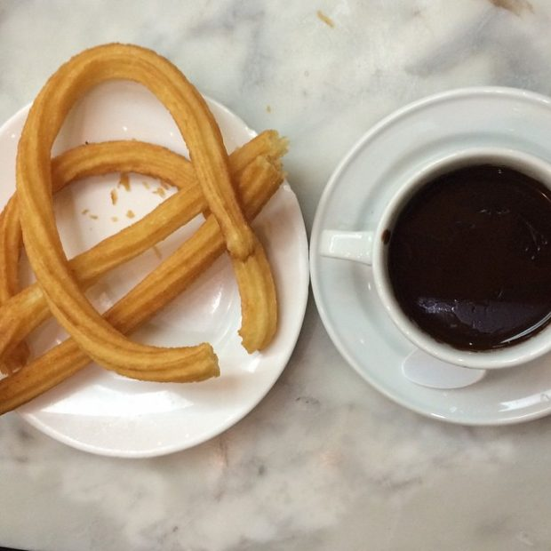 churros con chocolate - san ginés