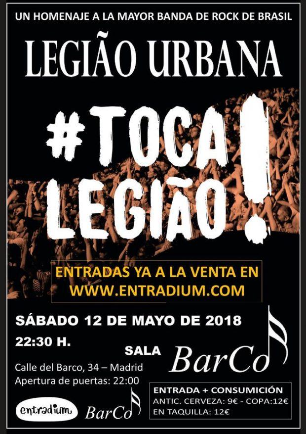tributo legiao urbana em Madrid
