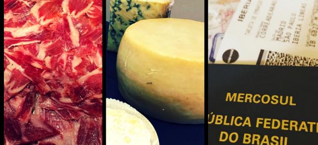como levar jamón e queijo para o brasil