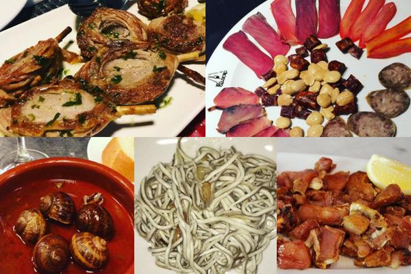 Gastronomia espanhola - tapas diferentes em Madrid