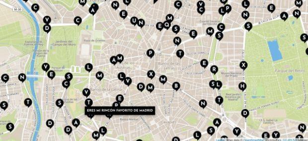 versos al paso: mapa de frases poeticas de madrid