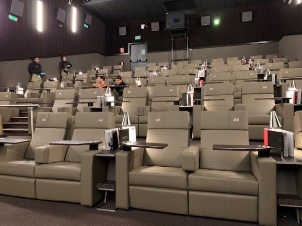 Poltronas super comodas no Cine Yelmo Luxury Palafox Madrid