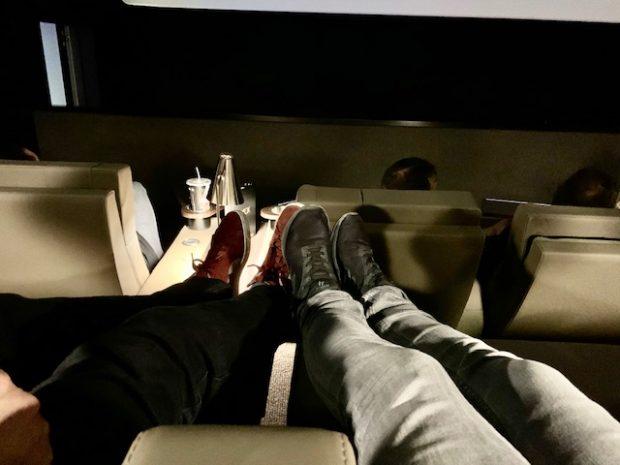 Pés pra cima no cinema em Madrid